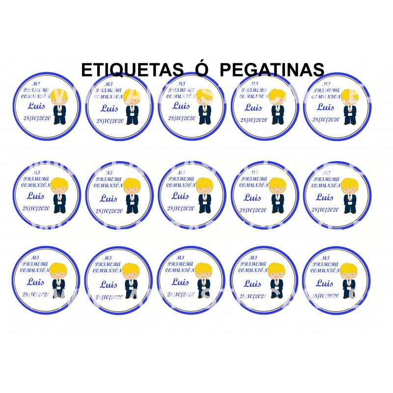 Etiquetas Comunión Niño Rubio Nº 686 personalizada