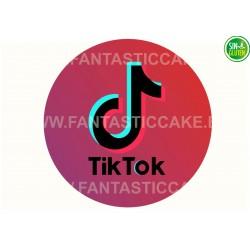Oblea Tik Tok para tarta Nº 991