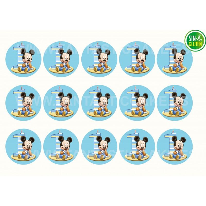 Mickey Mouse bebe Oblea para Galletas Nº 997