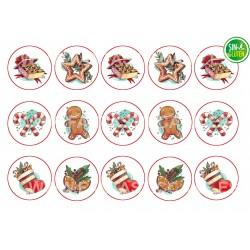 Obleas de Navidad galletas Nº 1012