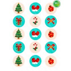 Obleas de Navidad galletas Nº 1013