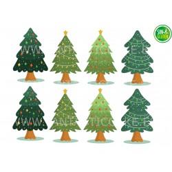 Oblea Árboles de Navidad Nº 1014