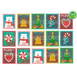Oblea Postales de Navidad Nº 1015