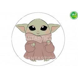 Oblea Baby Yoda tarta redonda Nº 1023