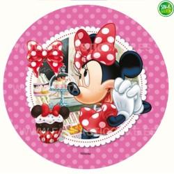 Oblea para tarta redonda de Minnie Nº 38