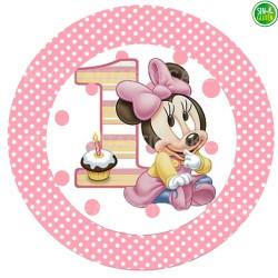 Oblea para tarta de Minnie Bebé Nº 12