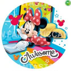 Oblea impresa para tarta de Minnie Nº 34
